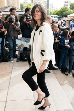Emmanuelle Alt attends the Giorgio Armani Prive Haute Couture Fall/Winter 20162017 show as part of Paris Fashion Week on July 5 2016 in Paris France