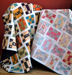 PDF QUILT PATTERN three sizes baby to twin ...Layer Cake or Charm Packs ... Tumbling Nine Patch. $9.00, via Etsy.