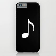 music note (black) iPhone & iPod Case