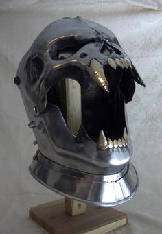 If you were a knight in the dark ages and you had a helmet like this, your opponents would be too afraid of you to fight.