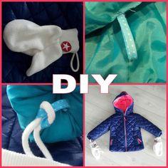 DIY: lusjes voor handschoenen aan de winterjas Sewing Kids Clothes, Sewing For Kids, Diy For Kids, Sewing Hacks, Diys, Dinosaur Stuffed Animal, Kids Outfits, Diy Crafts, Baby