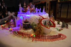 North Pole Village By Melodie Anderson  #Department56 #D56 #Christmasvillage #villagedisplay