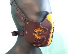 Leather Mask, Cowhide Leather, Cow Leather, Tap Shoes, Dance Shoes, Steampunk Mask, Cyberpunk, Protective Mask, Suede Fabric