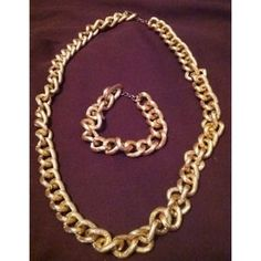 I just added this to my closet on Poshmark: Vintage Avon statement necklace & bracelet. Price: $15 Size: 18 inches