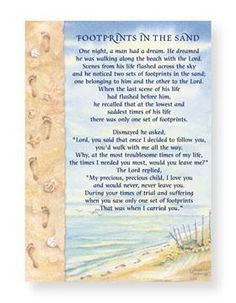Footprints in the Sand Poem Note Cards - Cape Shore Stationery
