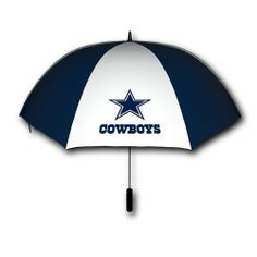 "Dallas Cowboys 60-Inch Golf Umbrella by Seven Sons. $17.99. Officially licensed by the NFL. Dallas Cowboys 60"" gold umbrella consisting of a soft-grip handle, fiberglass shaft, and polyester canopy with team logos on two opposing panels; comes in a team colored cover."