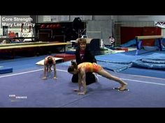 Core Strength - Mary Lee Tracy Gymnastics Lessons, Gymnastics Room, Gymnastics Tricks, Gymnastics Coaching, Gymnastics Workout, Gymnastics Conditioning, Cheer Workouts, Mary Lee, Exercise For Kids