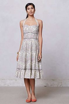 Anthropologie - Swirled Paisley Halter Dress - Just got this!