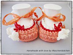 Babyschuhe-  JuliGlut von Maschenlädchen auf DaWanda.com