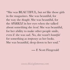 More quotes here The article On Beauty by F. Scott Fitzgerald first appeared on This Is Glamorous.