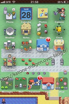 Theme Pokemon Iphone et ITouch by Im-Katone.deviantart.com