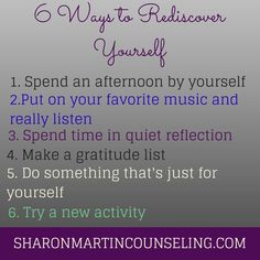 6 Ways to Rediscover Yourself #selfdiscovery #authenticself