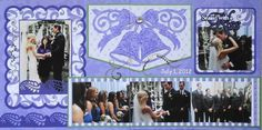 Wedding Ceremony scrapbook page with Wedding Bells from Cricut's Pretty Pennants -  from Wedding Album 4