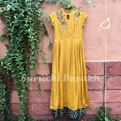 Bringing some mustard love your way with this lovely hand embellished dress. DM us for details. #newcollection #floral #instalike #instadaily #fashion #style #trendy #love #indianwear #weddingclothes #indianwedding #handcrafted #handmadewithlove #ethnic #handmadewithlove #bollywoodstyle #ootd #todaysoutfit #colorful #bestoftheday #picoftheday #fashiondiaries #beautiful #amazing #look #lookoftheday #dress #indiancolors