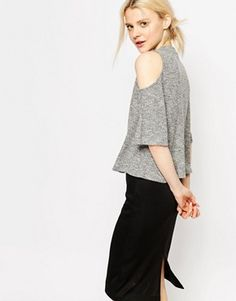 943c1201de6fac Monki Ruffle Off The Shoulder Top at asos.com