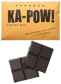 Ka-Pow's looks are deceiving: what appears at first glance to be the darkest of dark chocolate reveals itself, upon first bite, to have the bitter-floral-sweet-creamy balance of a perfect cup of coffee.
