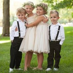 I COULD MEET JACOB IN MIDDLE WITH THIS MAYBE  Flower Girls and Ring Bearers
