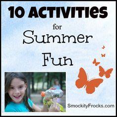 10 Activities For Summer Fun
