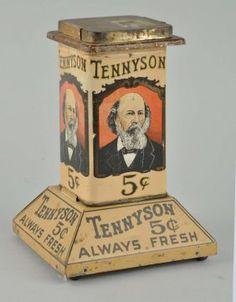 Tennyson Cigar Tin Display Holder.