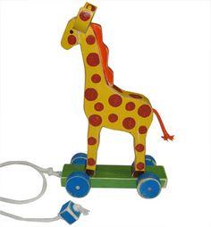 Giraffe Wooden Pull Toy