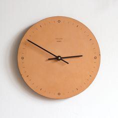 Nº001 - Leather Wall Clock