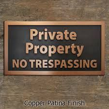 Image result for no trespassing sign