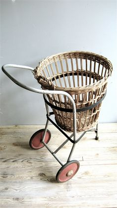 Vintage Basket/Cart by lovintagefinds on Etsy