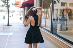 Black Checkered Print Dress - Dallas Wardrobe / Fashion BlogDallas Wardrobe // Fashion & Lifestyle Blog // Dallas
