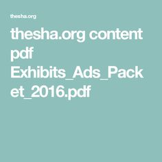 thesha.org content pdf Exhibits_Ads_Packet_2016.pdf