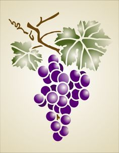grape stencil - Google Search