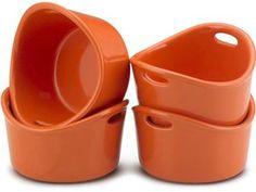 Rachael Ray Stoneware Set of 4/10-oz. Bubble & Brown Singles: Orange at Rachael Ray Store