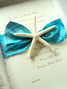 Starfish accent to seal the invitation