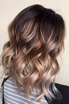 Wavy Brown Ombre For Medium Length Hair ? Dark, light, and medium brown ombre hair to upgrade your look. : Wavy Brown Ombre For Medium Length Hair ? Dark, light, and medium brown ombre hair to upgrade your look. Ombré Hair, Hair Dye, Wave Hair, Hair Brush, Ombre Hair Color, Dyed Hair Ombre, Rose Hair Color, Hair Images, Hair Inspo