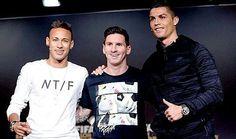 Qué cualidad del rival envidias? -Messi:CR7 tiene muchas que todos quisieramos tener  -CR7:La izquierda de Messi  -Neymar: Yo me quedo con las dos. #BalllonDor #Messi #CR7 #Neymar