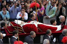 Death of John Paul II; selection of Pope Benedict Pope John Paul II reinvented the papacy during his 26-year reign, visiting more than 120 countries and reaching out to the world's religious leaders as an advocate for human rights and religious tolerance. Cardinal Joseph Ratzinger presided at his funeral Mass in 2005, just weeks before his own ascension as Pope Benedict XVI.