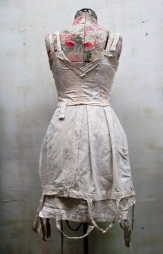77b55584a0b made from an antique corset   old german shopping bags.