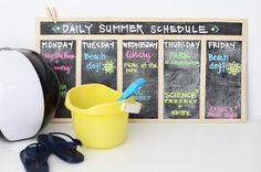 Daily Summer Schedule Board