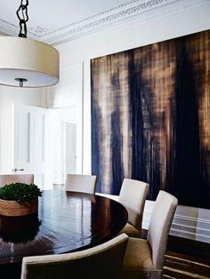 Design Obsession: Oversized Art. Baker FurnitureBlack Dining Room ...