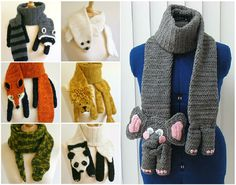 We've put together a collection of Crochet Animal Scarves Free Patterns included. You'll find a video tutorial plus lots of amazing inspiration. Crochet Kids Scarf, Love Crochet, Crochet Gifts, Crochet Scarves, Crochet For Kids, Crochet Shawl, Crochet Baby, Knit Crochet, Loom Knitting
