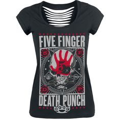Punchagram - T-shirt Femme par Five Finger Death Punch - Référence de l'Article: 287271 - à partir de 26,99 € • EMP