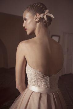 White and Gold Wedding. Bridesmaid Hair. Natural Hair. Wedding hair. milkmaid braids and a pretty pink ribbon