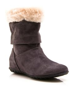 Take a look at this Gray Alpine Boot by Envy on #zulily today!
