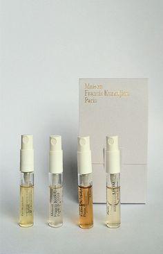 Maison Francis Kurkdjian perfume samples set of 4 mini atomizers franciskurkdjian.com