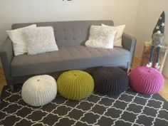 (2) PUF (pletený) DIY - YouTube Loom Knitting, Baby Knitting Patterns, Crochet Patterns, Pebble Art, Diy Furniture, Diy And Crafts, Throw Pillows, Plaid, Home Decor