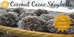 This healthy recipe for raw, vegan, and paleo coconut & cacao balls are so easy to make and fun for the kids!