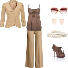 """""""tan"""" by susan-prigmore on Polyvore"""