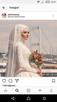 Muslim Wedding Gown, Hijabi Wedding, Wedding Hijab Styles, Muslimah Wedding Dress, Muslim Wedding Dresses, Muslim Brides, Wedding Dress Sleeves, Wedding Bride, Wedding Gowns