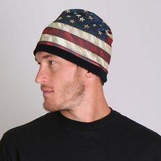 71854ac8c5f American Flag Watch Cap Beanie