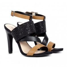 Savannah sandal in black by sole society  from ILoveCuteShoes.com