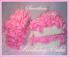 Birthday Cake Slice Candle by SweetloveCandles on Etsy, $14.99